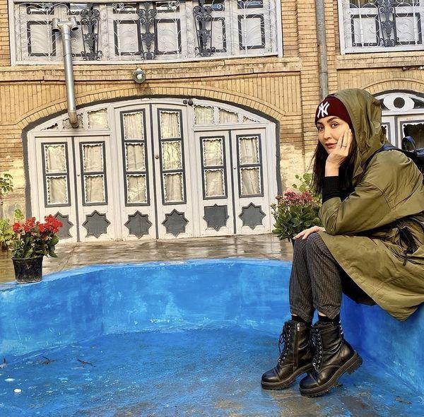 عکس لب حوضی مریم معصومی