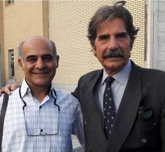 بابای حبیب همراه آقای امیری در فوق لیسانسهها