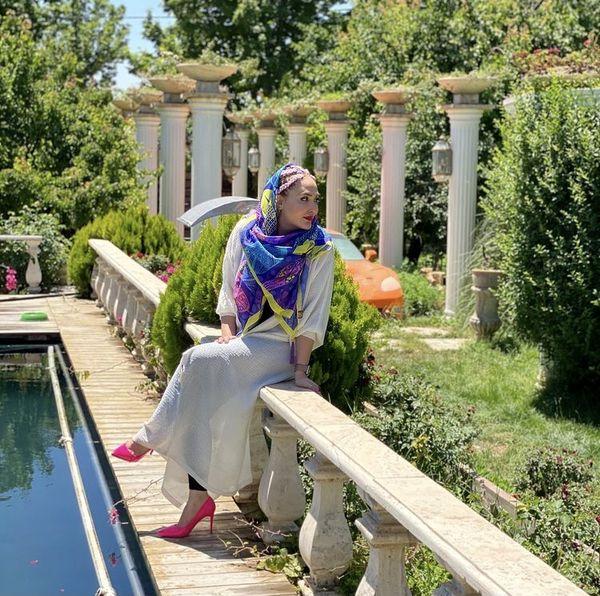 پوشش تابستانی سپیده خداوردی لب استخر + عکس