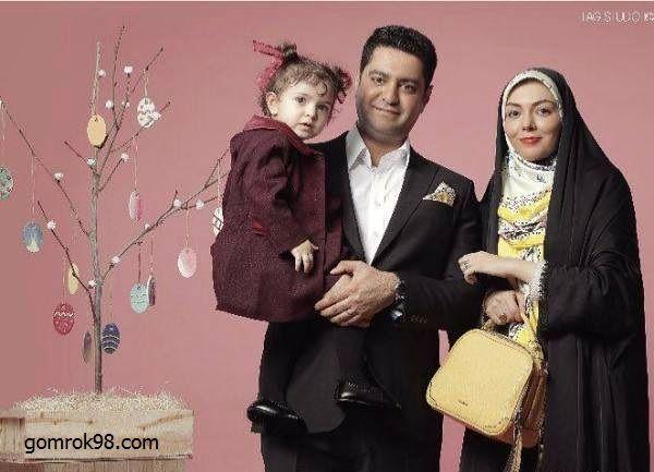 عکس آتلیه ای آزاده نامداری و همسر و دخترش