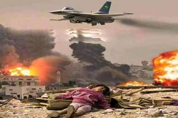 بمباران شدید الحدیده از سوی جنگنده های سعودی