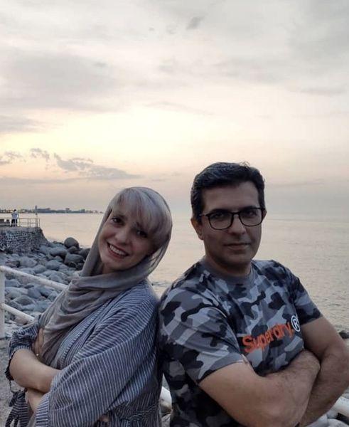الیکا عبدالرزاقی و برادرش لب دریا + عکس