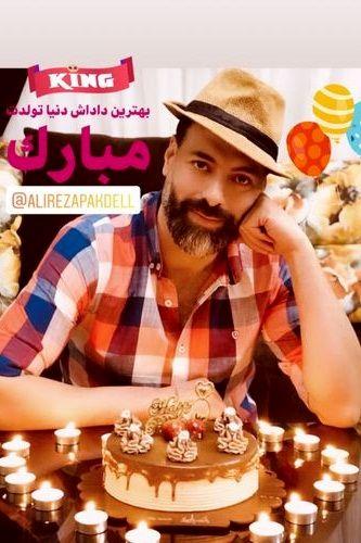 برادر زن هادی کاظمی در جشن تولدش+عکس