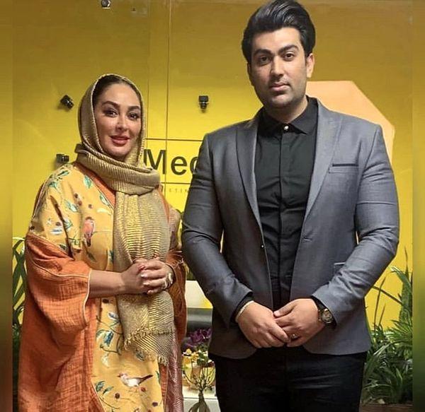 الهامحمیدی و همسرش + عکس