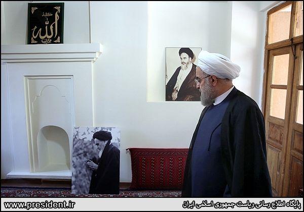 حضور روحانی در بیت امام خمینی (ره) + تصاویر