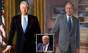 تصاویر کلینتون و بوش از کاخ سفید برداشته شد