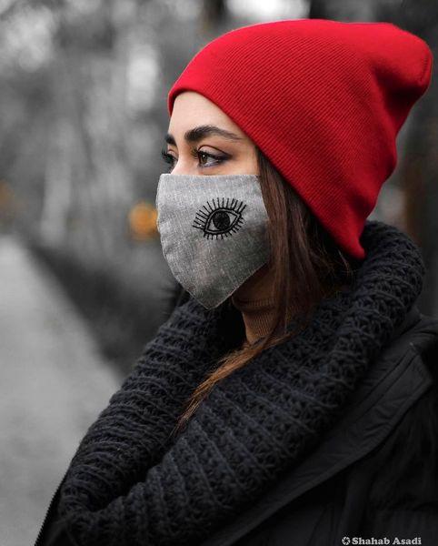 ماسک خاص بهاره کیان افشار + عکس