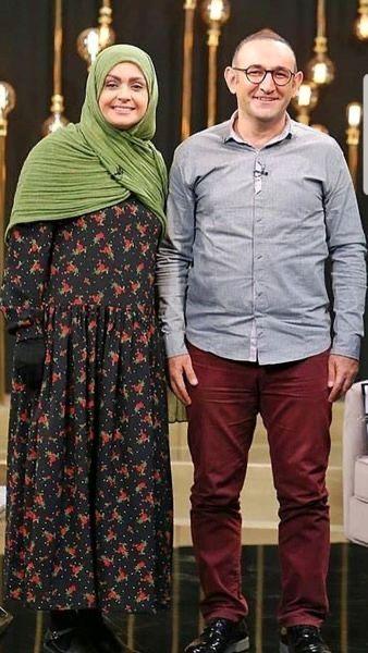 هدایت هاشمی و همسرش در یک برنامه تلویزیونی + عکس