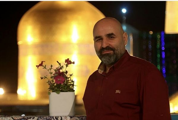 علی مسعودی در مشهد مقدس + عکس