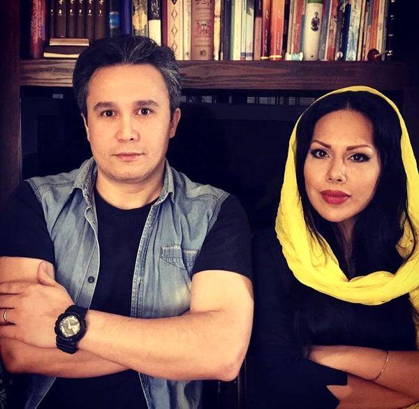 کیوان محمودنژاد در کنار همسرش + عکس