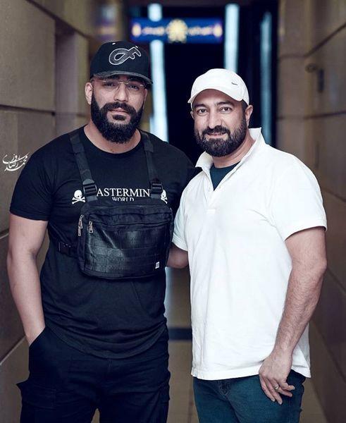 مجید صالحی در کنار خواننده جنجالی +عکس