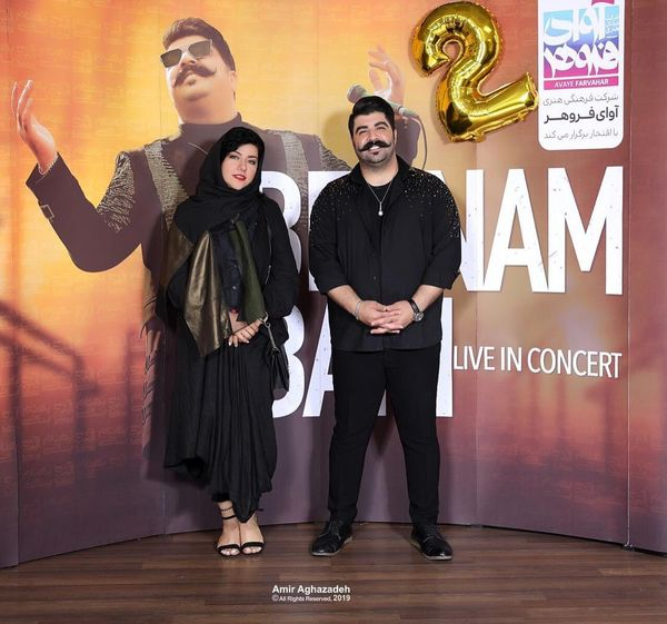 عکس همسر شهاب حسینی با بهنام بانی