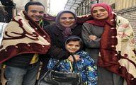الهام پاوه نژاد و بچه هایش در خیابان های سرد تهران + عکس