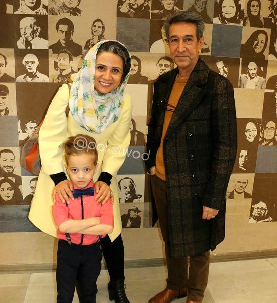عکس خانم بازیگر با همسر مرحوم معروفش