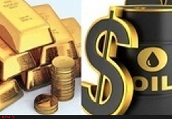 کاهش قیمت نفت و افزایش بهای طلا در بازارهای جهانی