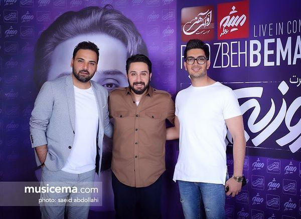 احسان علیخانی و بازیگر مانکن در کنارهم در یک کنسرت + عکس