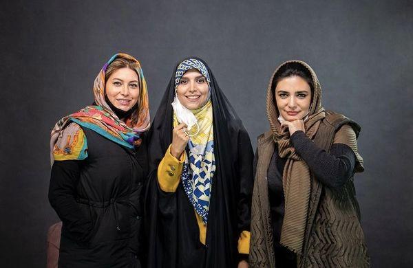مژده لواسانی در کنار دو بازیگر زن مشهور + عکس