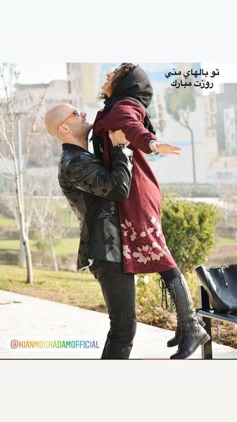 حرکت عجیب حدیثه تهرانی و همسرش در وسط پارک + عکس