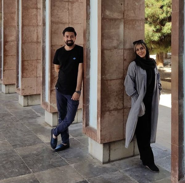 نیلوفر شهیدی در کنار همسرش + عکس