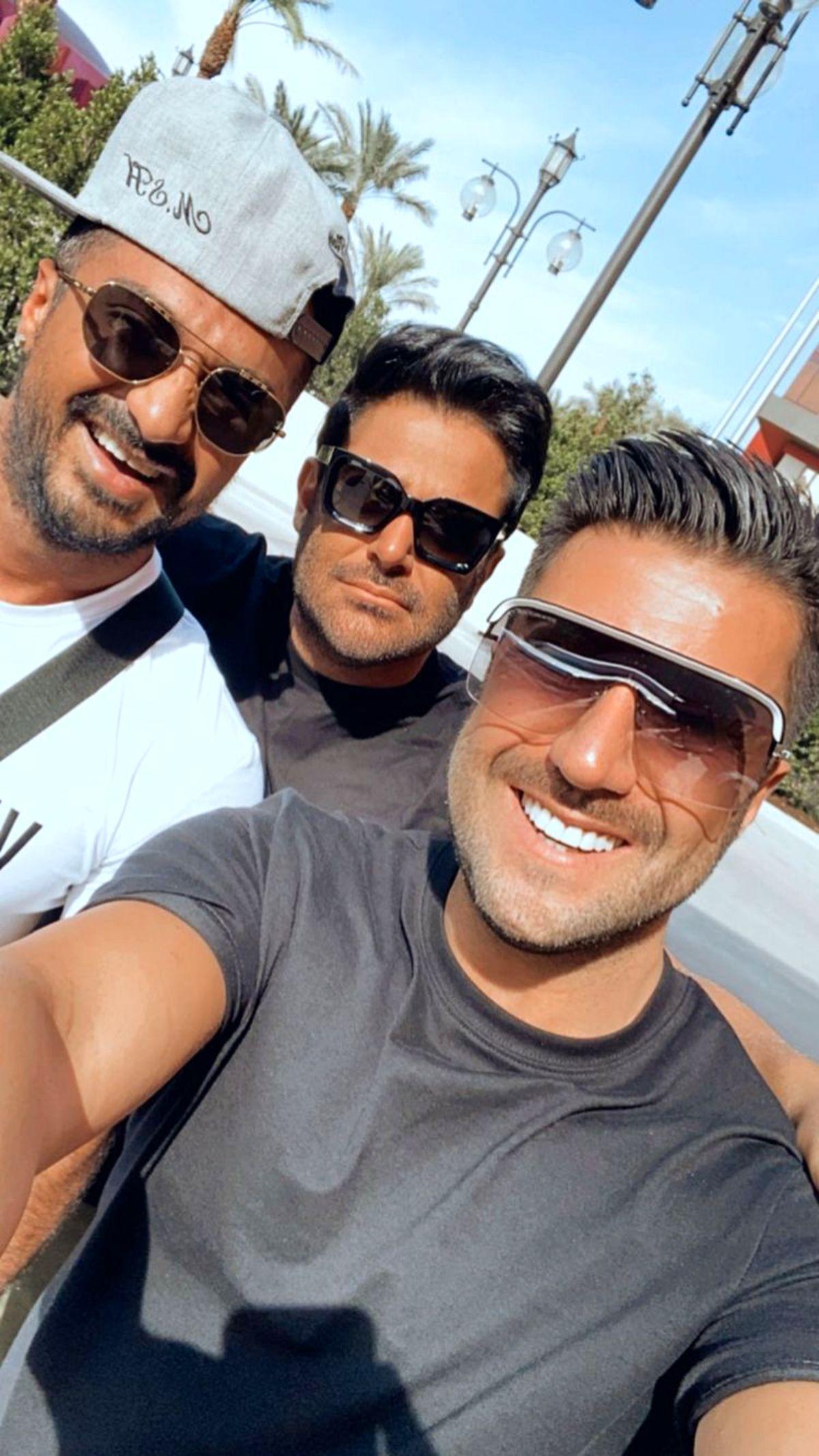 محمدرضا گلزار و دوست خواننده اش + عکس
