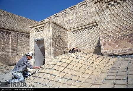 دست مرمت بر چهره حمام تاریخی نظام