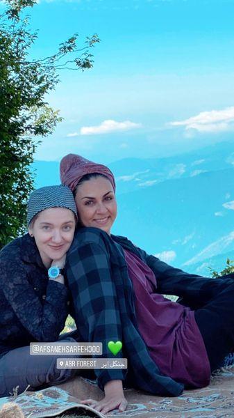 شیوا ابراهیمی و دوستش در جنگل ابر + عکس