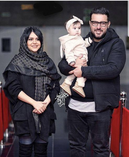 محسن کیایی به همراه همسر و فرزندش + عکس