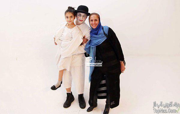 گریم عجیب پیمان معادی در کنار دختر و همسرش+عکس
