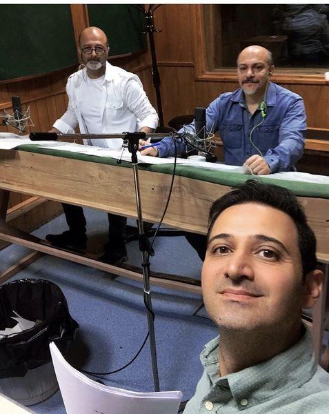 سلفی سعید شبخ زاده با همکارانش + عکس