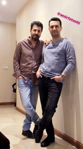 هومن حاجی عبداللهی در کنار رفیقش + عکس
