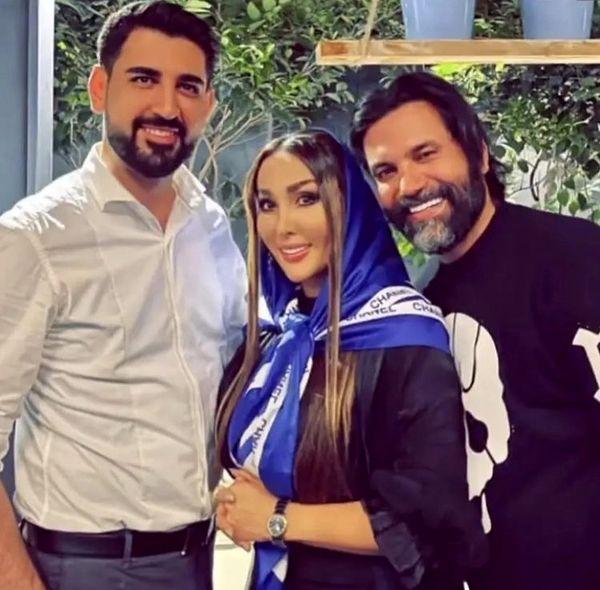 علیرضا نیکبخت و همسرش در رستوران + عکس