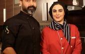 آشپزی کردن نیلوفر شهیدی با برادرش + عکس