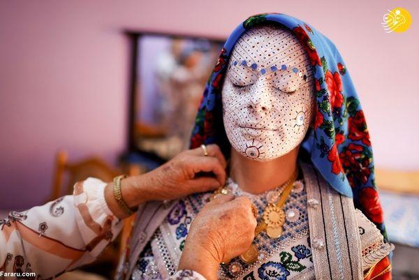 آرایش متفاوت عروس جوان + عکس