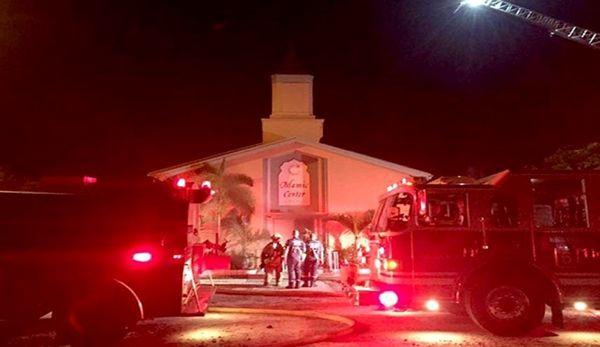 به آتش کشیده شدن مسجدی در انگلیس
