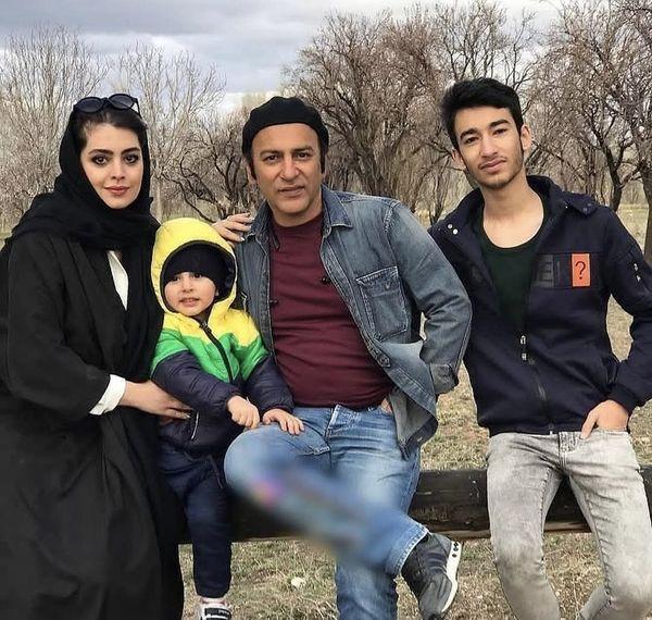 حمیدرضا آدرنگ و خانواده اش + عکس