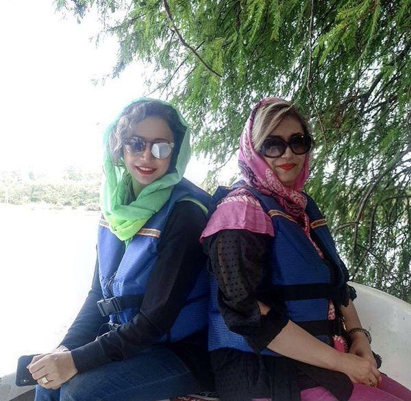 شبنم قلی خانی و دوستش + عکس