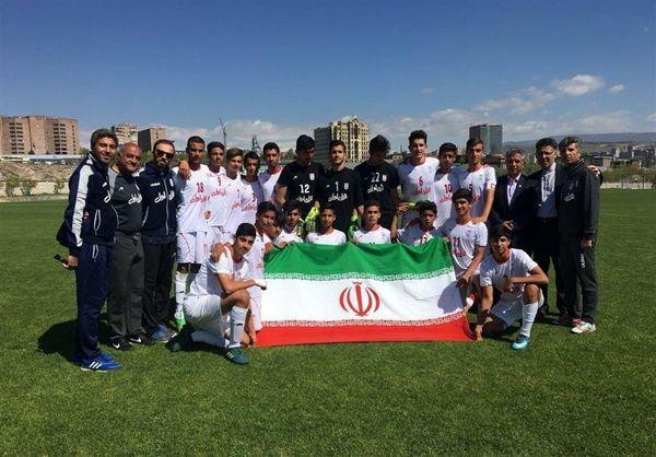 پیروزی تیم فوتبال نونهالان ایران مقابل بلاروس