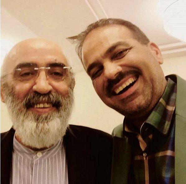 مازیار ناظمی و دوست بازنشسته جوانش+عکس