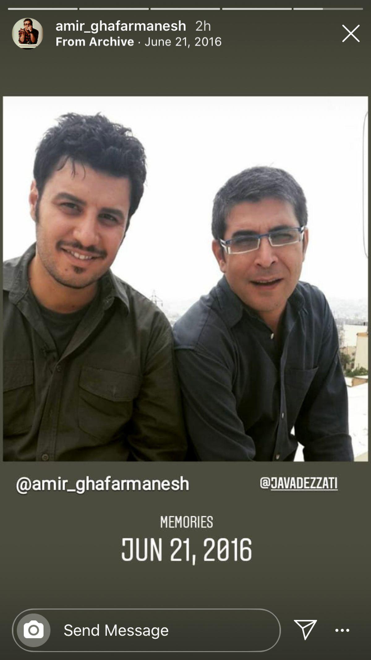 جوانی امیر غفارمنش و جواد عزتی + عکس