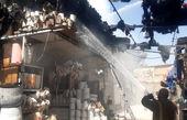 آتش سوزی وحشتناک بازار گل تهران + عکس و فیلم