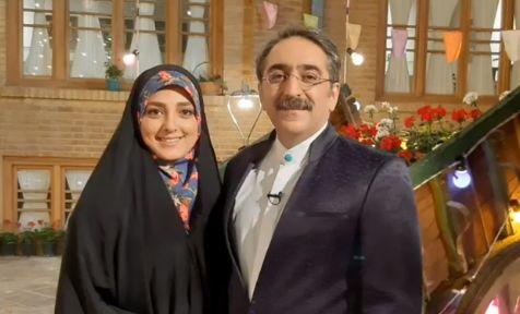 قدردانی خانم مجری از همسرش برای نگهداری از پسرش