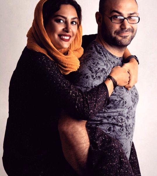 کولی گرفتن حدیثه تهرانی و همسرش + عکس