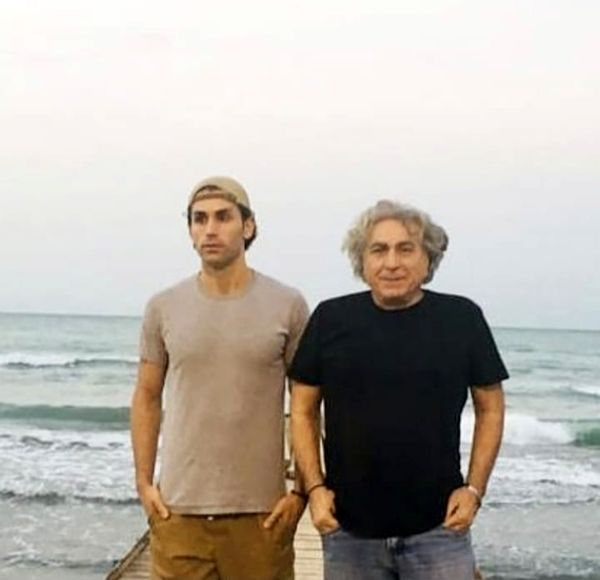 آقا کیوان سریال نون خ با پسرش در شمال + عکس