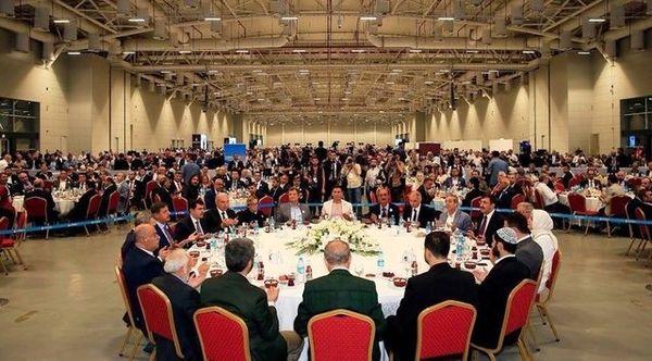 مراسم افطاری اردوغان جنجال آفرید +عکس