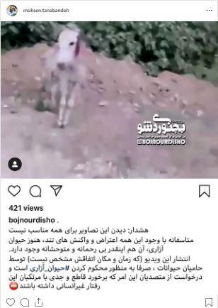 تصاویر دلخراش و ضد انسانی در صفحه محسن تنابنده+عکس
