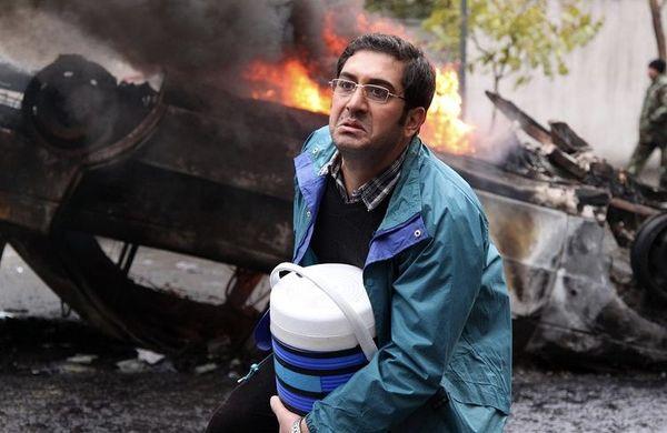 ماشین آتش گرفته آقای بازیگر + عکس
