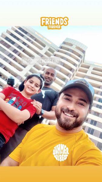 بابک جهانبخش و پسرش در سفر + عکس