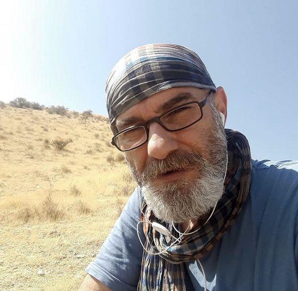 علی عمرانی در حال کوهنوردی + عکس