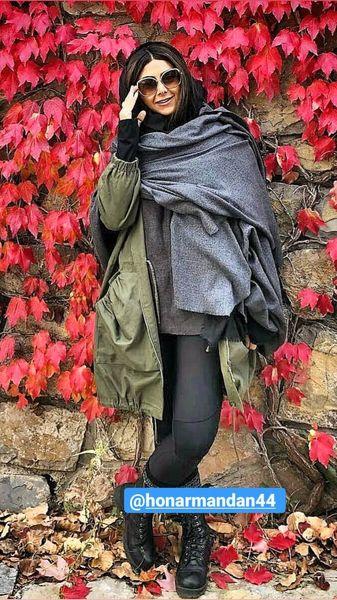 استایل زمستانی آزاده صمدی + عکس