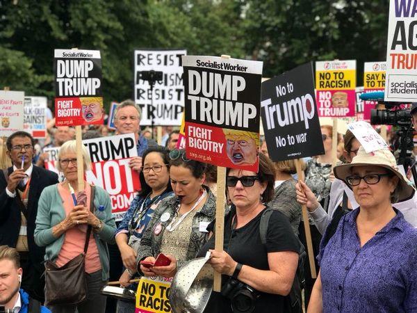تظاهرات ضد ترامپ در لندن برگزار شد